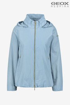 Geox Womens Nayomi Blue Short Jacket