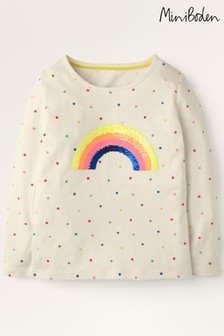 Mini Boden Multi Colour-Change Sequin T-Shirt