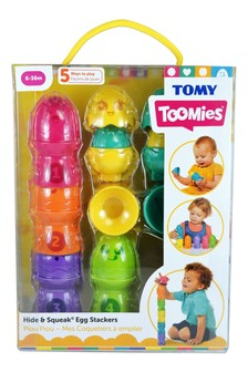 TOMY Toomies Hide & Squeak Egg Stackers