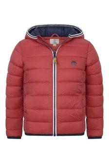 Boys Red & Blue Padded Jacket