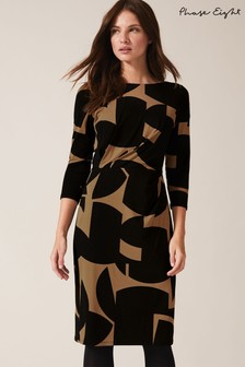 Phase Eight Neutral Gretchen Print Dress