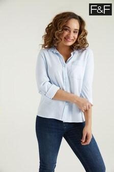 F&F Soft TENCEL™ Chambray Shirt