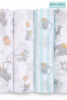 aden + anais Essentials Muslin Swaddle Blankets 4 Pack