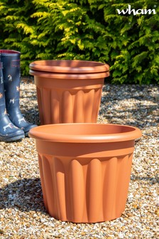 Set of 3 Vista 40cm Round Garden Planters by Wham