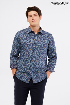 White Stuff Blue Swineshore Paisley Print Shirt