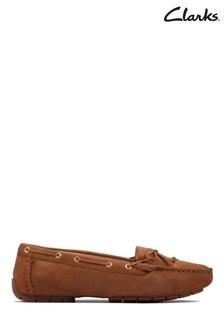 Clarks Tan Leather C Mocc Boat2 Shoes