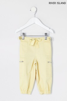 River Island Yellow Bright Mini Girls Combat Utility Trousers