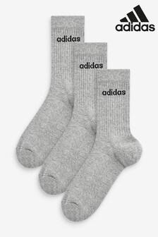 adidas Adults Half Cushioned Crew Socks 3 Pack