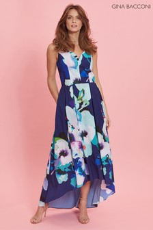 Gina Bacconi Blue Brenna Floral Dress