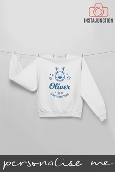 Personalised Reindeer Jumper by Instajunction