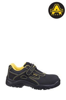 Amblers Safety Black FS77 Breathable Touch Fastening Safety Trainers