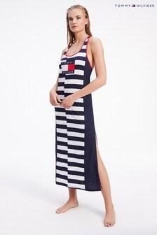 Tommy Hilfiger Blue 85 Striped Maxi Dress