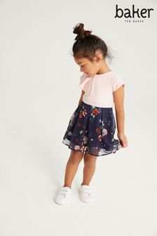 Baker by Ted Baker Floral Dress with Frill