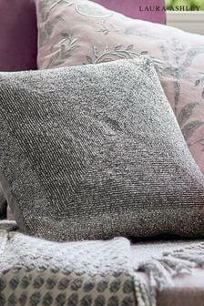 Laura Ashley Silver Beaded Cushion