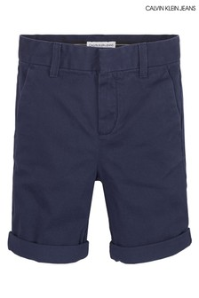 Calvin Klein Blue Slim Chino Shorts