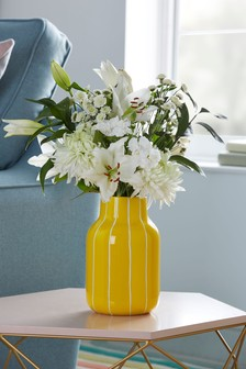 Yellow Stripe Vase