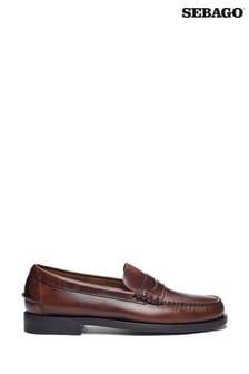 Sebago Brown Dan Waxy Baboo Shoes