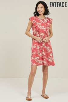 FatFace Red Kate Flamingo Dress