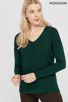 Monsoon Green Blaise Jumper