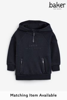 Baker by Ted Baker Younger Boy Navy Overhead Hoodie