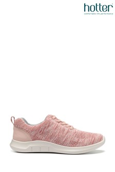 Hotter Pink Nova Lace-Up Full Covered Trainers