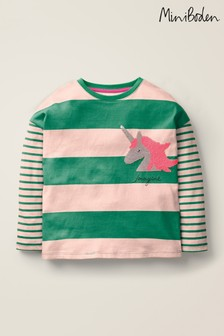 Boden Green Stripy Colour Change T-Shirt