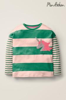 Boden Green Stripy Colour Change T-Shirt