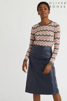 Oliver Bonas PU A-Line Midi Skirt