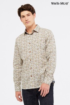 White Stuff Cream Ennerdale Print Shirt