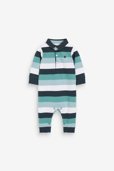Stripe Polo Romper (0mths-3yrs)