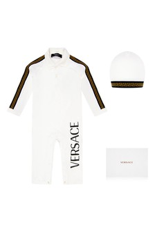 Baby Ivory Cotton Romper 2 Piece Gift Set