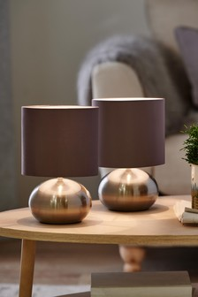 Pebble Twin Pack Table Lamp