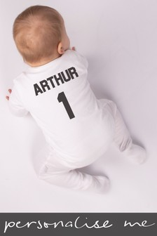 Personalised Footballer Sleepsuit