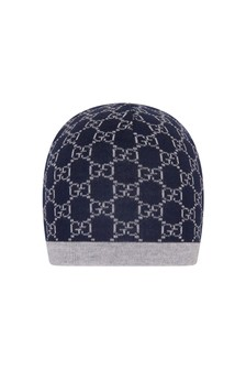 Navy/Grey Wool Hat
