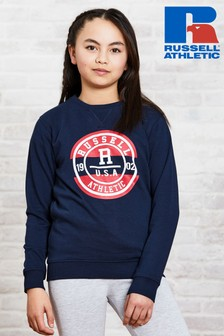 Russell Athletic Girls Collegiate Crew Sweatshirt