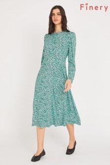 Finery Blue Emilia Floral Print Midi Dress