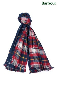 Barbour® Navy Brecon Reversible Check Scarf