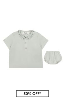 Bonpoint Baby Boys Light Green Outfit