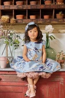 Angel's Face Blue Heron Baby Dress