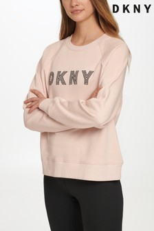 DKNY Coral Track Logo Sweatshirt
