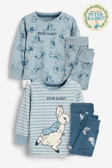 2 Pack Peter Rabbit Snuggle Pyjamas (9mths-8yrs)