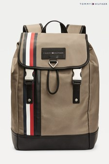 Tommy Hilfiger Camel Metropolitan Flap Backpack