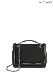 Accessorize Black Chain Detail Georgia Bag