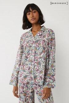 Warehouse Paisley Pyjama Top
