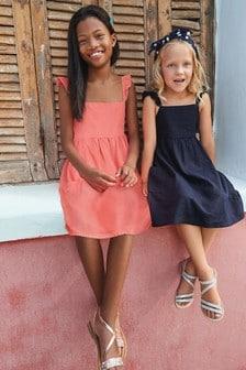 Linen Frill Dress (12mths-16yrs)