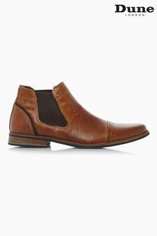 Dune London Chili Tan Leather Toecap Detail Chelsea Boots