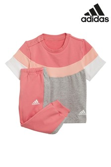 adidas Infant T-Shirt And Joggers Set