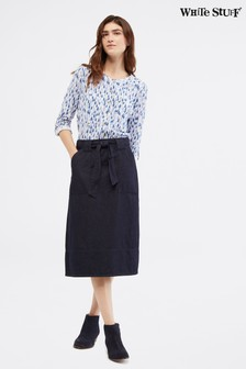 White Stuff Blue Floret Skirt