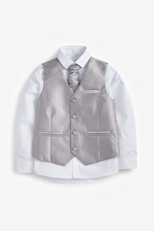Wedding Waistcoat, Shirt And Tie Set (12mths-16yrs)