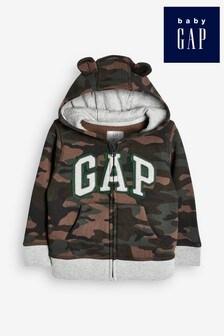 Gap Baby Logo Zip Through Hoody With Ears